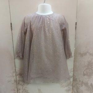 🎉HP🎉BabyGap Light Ballet Pink Foil Chiffon Dress
